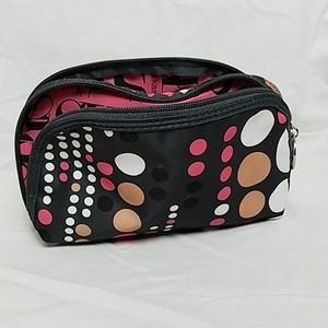 Sonia Kashuk polka dot cosmetic bag